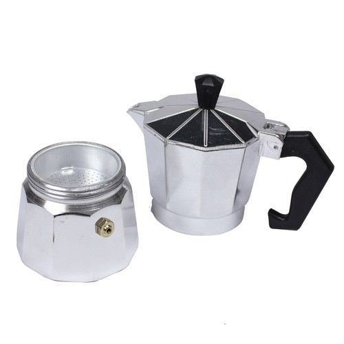 Coffee Consumers 1 Cup Stovetop Expresso Coffee Latte Maker Percolator Moka POT +Extra Gasket