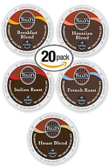 20-count-K-cup-for-Keurig-Tullys-Coffee-Variety-Pack-Featuring-Hawaiian-Italian-House-French-and-Breakfast-0
