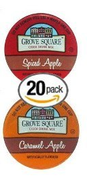 20-count-Single-Serve-Cups-for-Keurig-K-Cup-Brewers-Grove-Square-Apple-Cider-Variety-Pack-Featuring-Spiced-Apple-Cider-and-Caramel-Apple-Cider-Cups-0