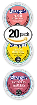 20-count-Single-Serve-Cups-for-Keurig-K-Cup-Brewers-Iced-Snapple-Variety-Pack-Featuring-Lemon-Peach-and-Raspberry-Cups-0