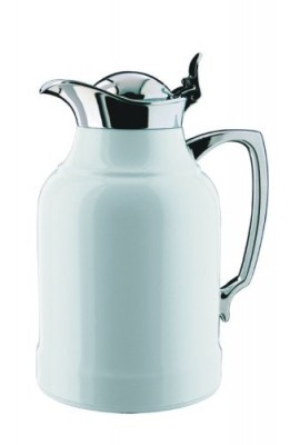 Alfi-Opal-White-Lacquered-Brass-Thermal-Carafe-with-Chrome-Trim-22-Ounce-0