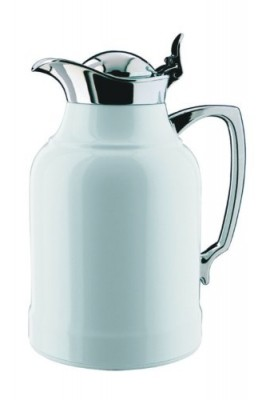 Alfi-Opal-White-Lacquered-Brass-with-Chrome-Thermal-Carafe-33-Ounce-0