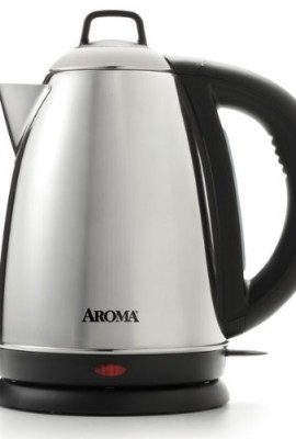 Aroma-Hot-H20-X-Press-15-Liter-6-Cup-Cordless-Electric-Water-Kettle-Stainless-Steel-0