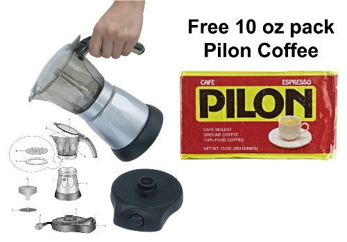 BC-Classics-BC-90264-6-Cup-Electric-Coffee-Maker-with-Free-Pilon-Coffee-10-Oz-Pack-0-0