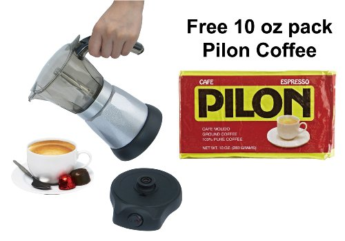 BC-Classics-BC-90264-6-Cup-Electric-Coffee-Maker-with-Free-Pilon-Coffee-10-Oz-Pack-0