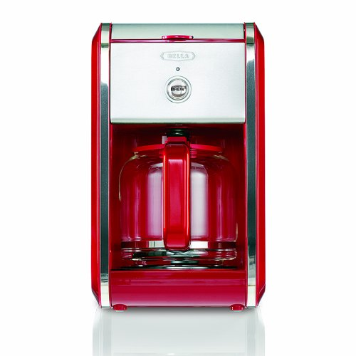 BELLA-13700-Dots-Collection-12-Cup-Coffee-Maker-Red-0-0