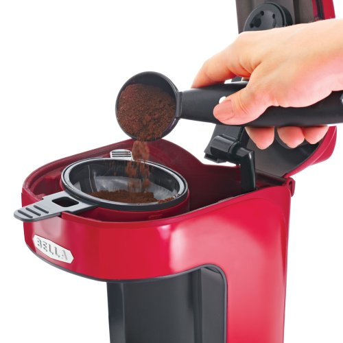 Coffee Consumers BELLA 13711 One Scoop One Cup Coffee Maker, Red