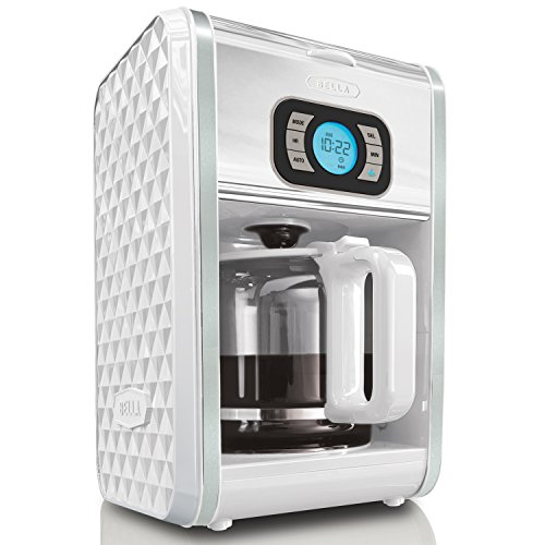 Bella Programmable Coffee Maker : Coffee Consumers BELLA 13726 Diamonds Collection 12-Cup Programmable Coffee Maker, White