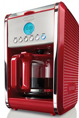 BELLA-13839-Dots-Collection-12-Cup-Programmable-Coffee-Maker-Red-0