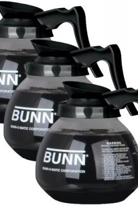 BUNN-Glass-Coffee-Pot-Decanter-Carafe-Set-of-3-Black-Regular-12-Cup-Capacity-0