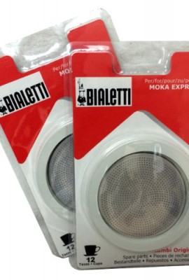 Bialetti-2-Packs-of-06964-total-of-SIX-replacement-gaskets-and-TWO-Bialetti-replacement-filter-plates-For-12-CUP-Bialetti-Moka-Express-Dama-Break-Moka-Easy-Dama-Easy-0