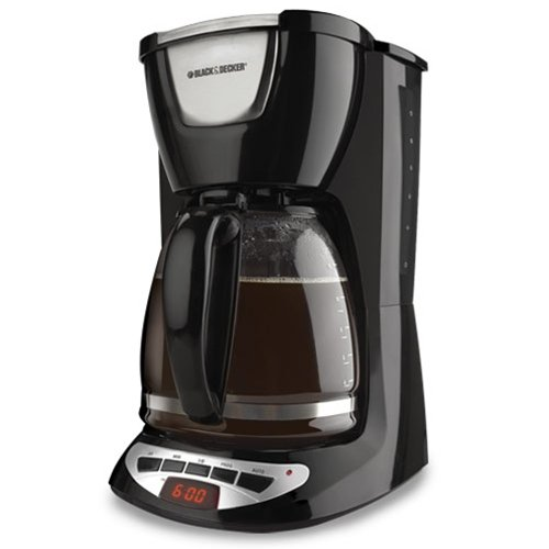 Black And Decker Coffee Maker Glass : Coffee Consumers Black & Decker DCM100B 12-Cup Programmable Coffeemaker with Glass Carafe