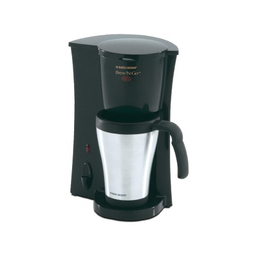 Coffee Maker Mug : Coffee Consumers Black & Decker DCM18S Brew N Go Deluxe Coffee Maker with Stainless Steel Mug