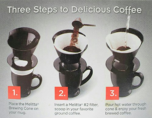 Coffee Consumers Black Melitta Pour Over Single Serve Coffee Brewer