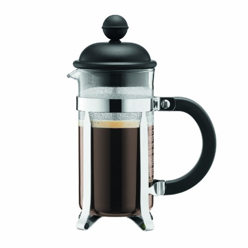Coffee Consumers Bodum Caffettiera French Press Coffee Maker, Black Plastic Lid and Stainless ...