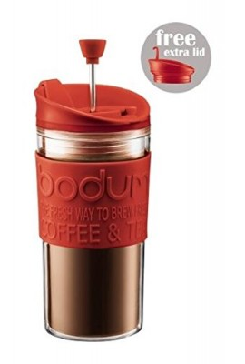 Bodum-Travel-Press-Set-Coffee-Maker-With-Extra-Lid-035L-12oz-Red-0