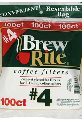 Brew-Rite-4-Cone-Coffee-Filters-White-Paper-100-Count-Bags-Pack-of-8-0