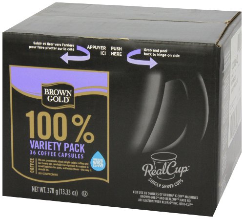Brown Gold Coffee Capsules Variety Pack Compatible With