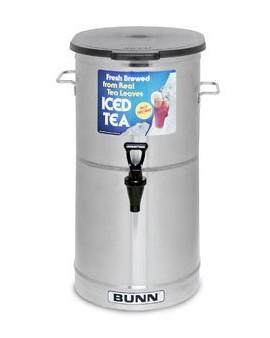 Bunn-TDO-4-0002-Tea-Dispenser-oval-shaped-brew-through-plastic-lid-This-4-gal-0