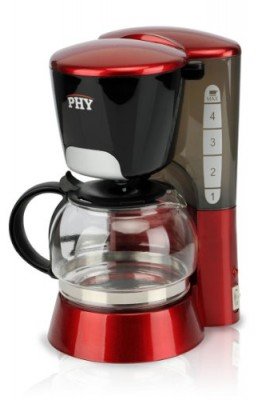 Buy-It-Now-PHY-4-Cup06L-Switch-Espresso-Coffee-Maker-Coffeemaker-with-Glass-Carafe-Permanent-Filter-Semi-Transparent-Water-Tank-Red-0