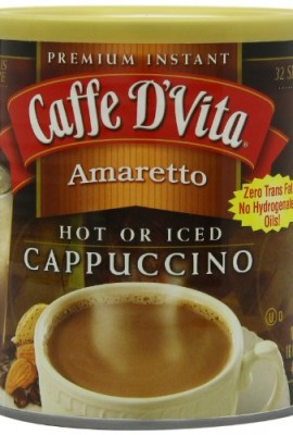 Caffe-DVita-Amaretto-Instant-Cappuccino-16-Ounce-Canisters-Pack-of-6-0