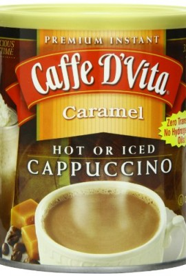 Caffe-DVita-Caramel-Instant-Cappuccino-16-Ounce-Canisters-Pack-of-6-0