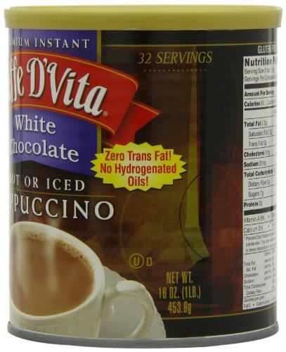 Caffe-DVita-White-Chocolate-Cappuccino-Mix-16-Ounce-Canisters-Pack-of-6-0-1