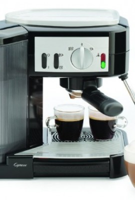 Capresso-1050-Watt-Pump-Espresso-and-Cappuccino-Machine-BlackSilver-0