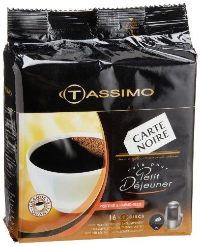 coffee consumers carte noire petit dejeuner coffee t discs for tassimo coffeemakers 16 count. Black Bedroom Furniture Sets. Home Design Ideas