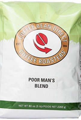 Coffee-Bean-Direct-Poor-Mans-Blend-Whole-Bean-Coffee-5-Pound-Bag-0