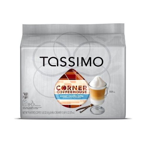 Corner-Coffeehouse-Sweet-Vanilla-Latte-T-DISC-16-Count-8-Servings-for-the-TASSIMO-Single-Cup-Brewer-0