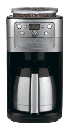 Cuisinart DGB 900BC Grind Brew Thermal 12 Cup Automatic Coffeemaker Brushed StainlessBlack 0 Cuisinart Coffee Pots Dgb Bc Burr Grind Amp Brew Thermal  Cup Automatic Coffeemaker Coffee Makers Products