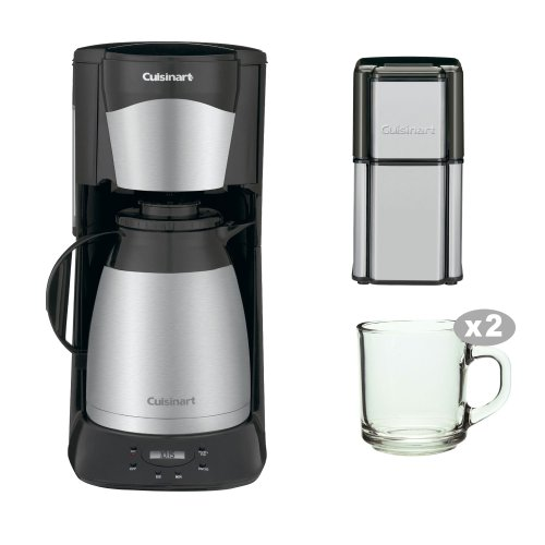 Cuisinart-DTC975BKN-DTC-975BKN-12-Cup-Programable-Thermal-Coffeemaker-with-Grind-Central-Coffee-Grinder-Two-Handy-Glass-Coffee-Mug-0