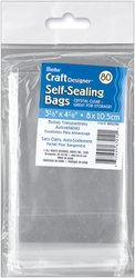Darice-1115-13-80-Pack-Plastic-Acid-Free-Self-Sealing-Bags-3-18-by-4-18-Inch-Clear-0