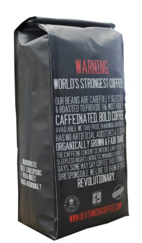 Death-Wish-Coffee-The-Worlds-Strongest-Ground-Coffee-Beans-Fair-Trade-and-Organic-16-Ounce-Bag-0-0