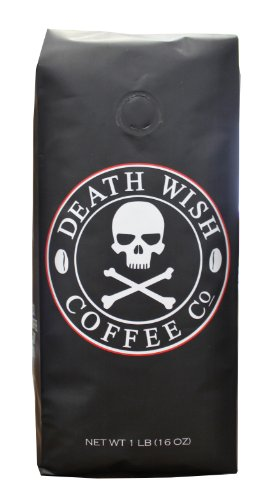 Death-Wish-Coffee-The-Worlds-Strongest-Ground-Coffee-Beans-Fair-Trade-and-Organic-16-Ounce-Bag-0