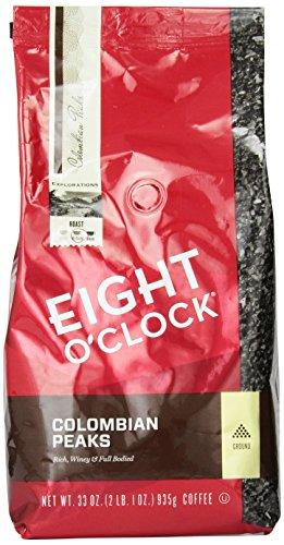 Eight-OClock-Colombian-Peaks-Ground-Coffee-33-Ounce-Bag-0