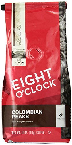 Eight-OClock-Colombian-Peaks-Whole-Bean-Coffee-11-Ounce-Bags-Pack-of-6-0