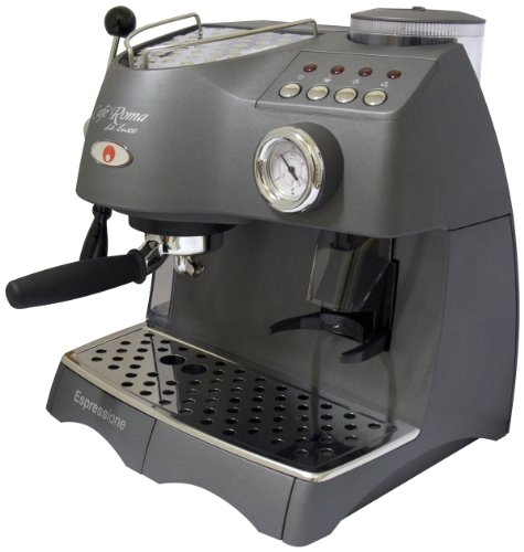 coffee consumers espressione caf roma deluxe espresso machine with built in grinder. Black Bedroom Furniture Sets. Home Design Ideas
