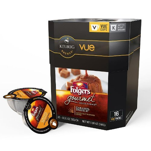 Folgers One Cup Coffee Maker : Coffee Consumers Folgers Gourmet Selections Caramel Drizzle Coffee Vue Cup For Keurig Vue ...