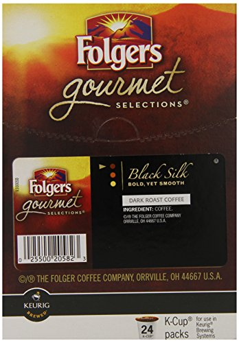 Folgers One Cup Coffee Maker : Coffee Consumers Folgers Gourmet Selections K-Cup Single Cup for Keurig Brewers, Black Silk ...
