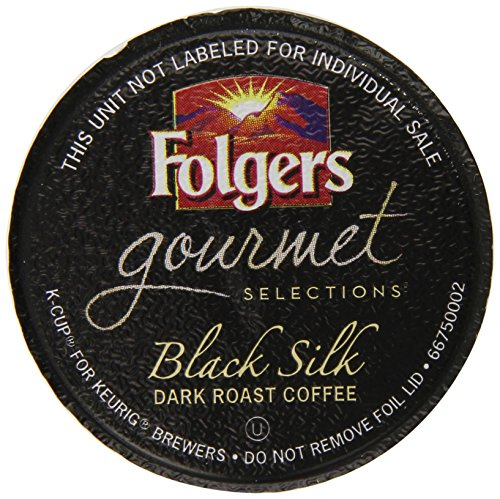Coffee Consumers Folgers Gourmet Selections K-Cup Single Cup for Keurig Brewers, Black Silk ...