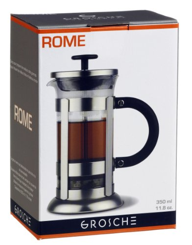 GROSCHE-ROME-French-Press-Coffee-and-Tea-maker-350-ml-3-cup-one-coffee-mug-size-0