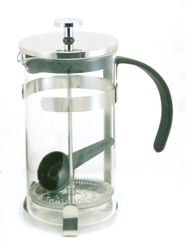 Stainless Steel Coffee Maker No Plastic Parts : Coffee Consumers GROSCHE York Glass French Press Coffee and Tea Maker 1000ml / 34 fl. Oz / 8 ...