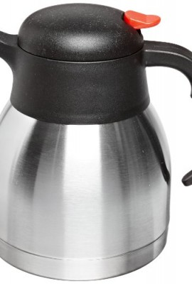 Genuine-Joe-GJO11955-Stainless-Steel-Everyday-Double-Wall-Vacuum-Insulated-Carafe-1L-Capacity-0