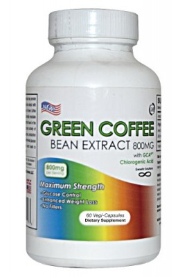 Green-Coffee-Bean-Extract-800mg-Per-Serving-60-Vegetarian-Capsules-30-Day-Supply-No-Fillers-50-Chlorogenic-Acids-Contains-GCA-Green-Coffee-Bean-Weight-Loss-Formula-Caffeine-Free-Stimulant-Free-Weight--0