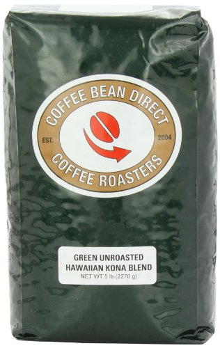 Coffee Consumers Green Unroasted Kona Blend Whole Bean