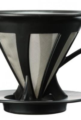 Hario-Paperless-Coffee-Dripper-Black-Stainless-Steel-Filter-CFOD-02-0