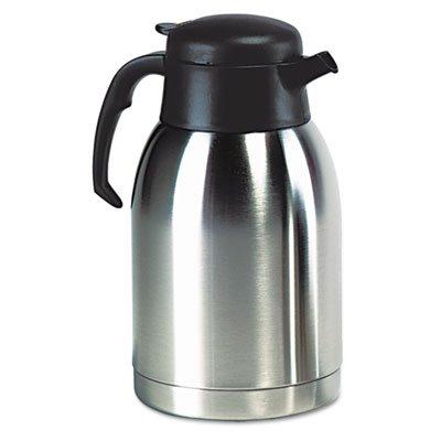 Hormel-SVC190-Stainless-Steel-Lined-Vacuum-Carafe-19-Liter-Satin-FinishBlack-Trim-0-0