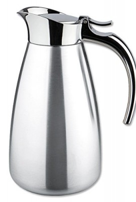 Isosteel-VA-9344K-06-Liter-20-oz-188-polished-stainless-Steel-Tableline-Double-Walled-Vacuum-Carafe-wit-Flap-Lid-Dishwasher-Safe-BPA-free-0